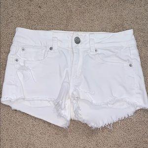 White American Eagle Jean Shorts